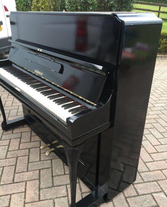 Herman black piano | belfastpianos.com