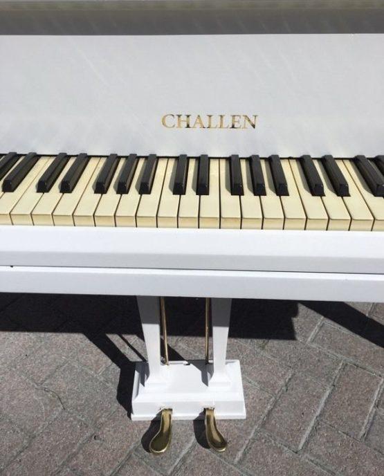 Challen white grand piano | belfastpianos.com