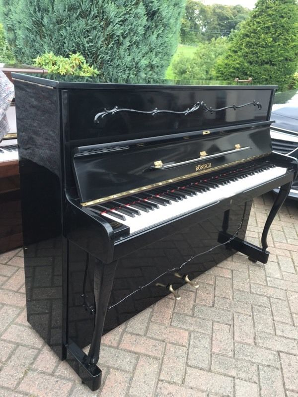 ronisch modern black upright piano sold belfast pianos