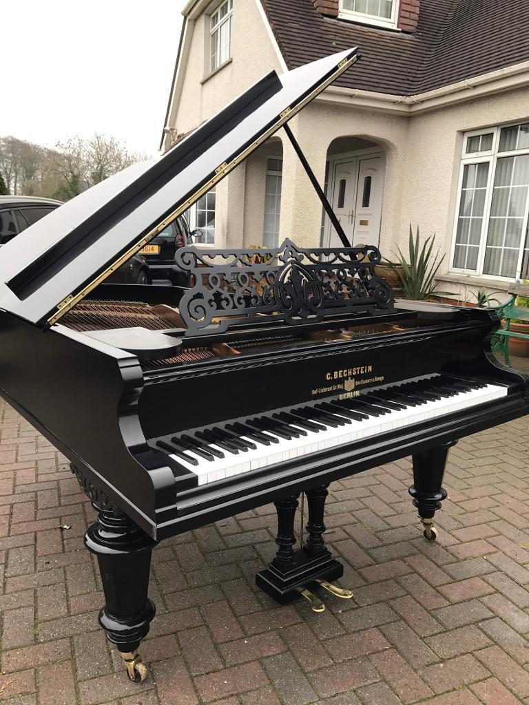 bechstein 6 6 black grand piano belfast pianos belfast pianos grand pianos restoration. Black Bedroom Furniture Sets. Home Design Ideas