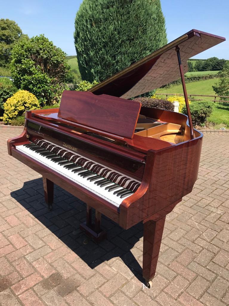 Zimmerman walnut baby grand belfast pianos free for Small grand piano